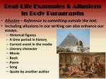 real life examples allusions in body paragraphs1