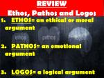 review ethos pathos and logos