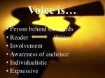 voice is