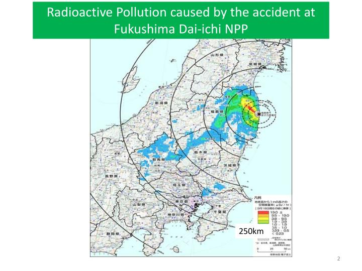 Radioactive Pollution caused by the accident at Fukushima