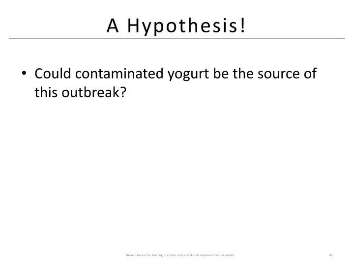 A Hypothesis!