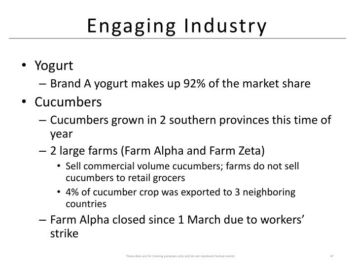 Engaging Industry