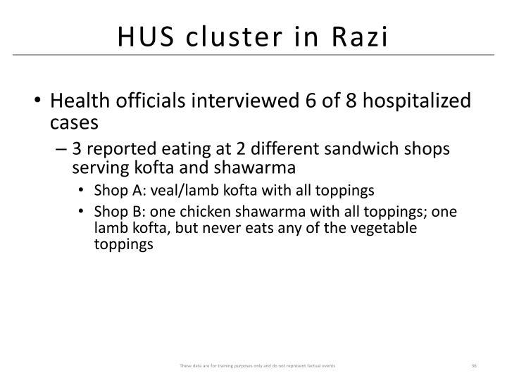 HUS cluster in