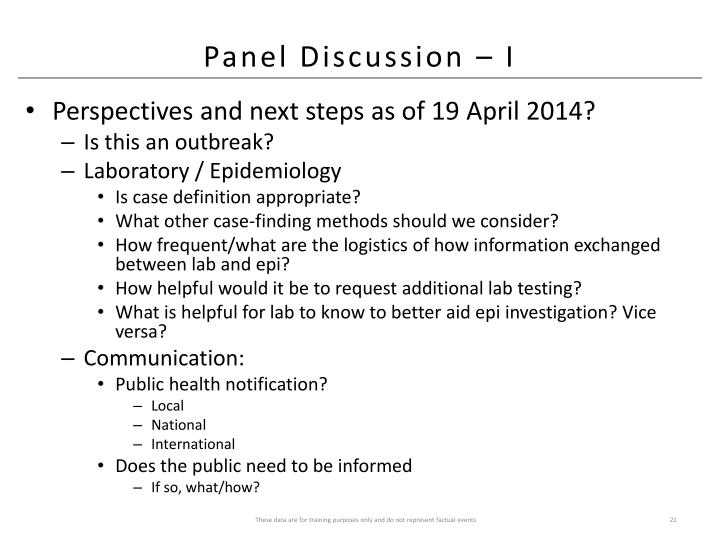 Panel Discussion – I