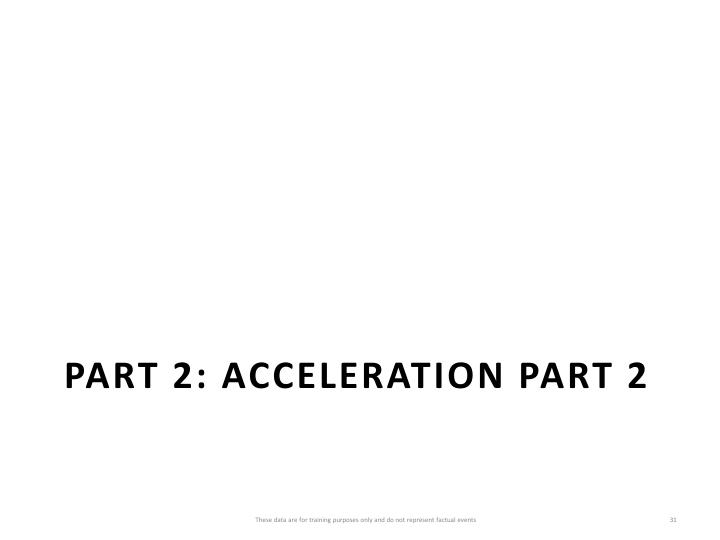 Part 2: Acceleration Part 2