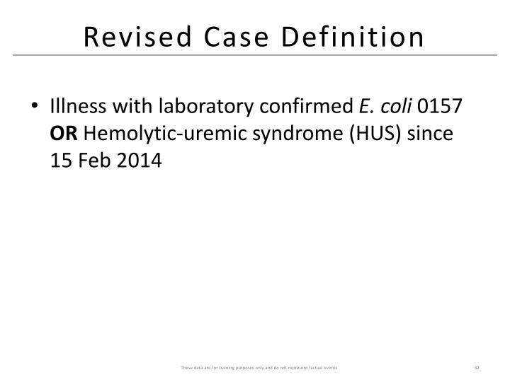 Revised Case Definition