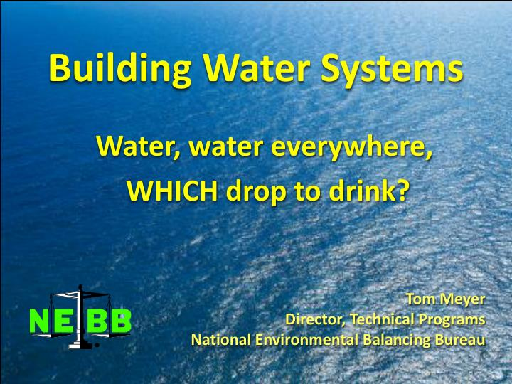 building water systems n.