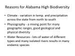 reasons for alabama high biodiversity