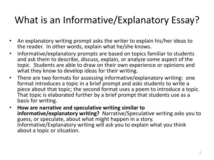 Exploratory essay topics