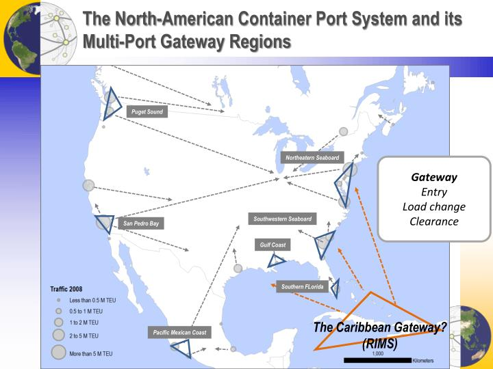 The North-American Container Port System and its Multi-Port Gateway Regions