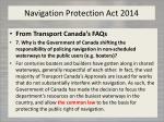 navigation protection act 2014