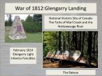war of 1812 glengarry landing
