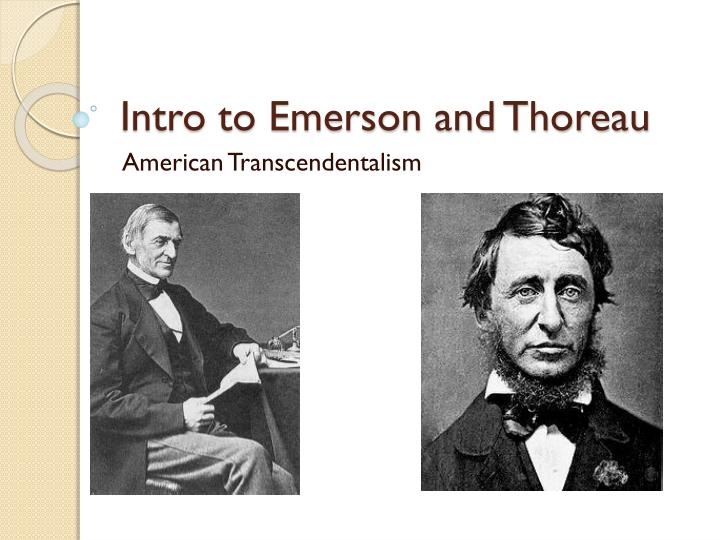 intro to emerson and thoreau n.