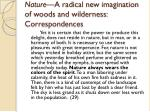 nature a radical new imagination of woods and wilderness correspondences1