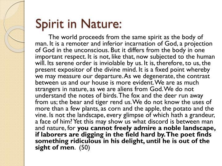 Spirit in Nature: