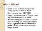 what is walden1