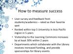 how to measure success
