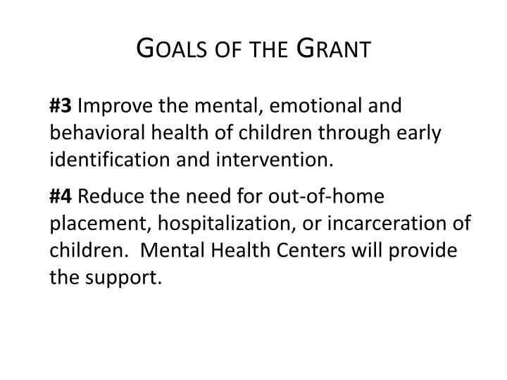 Goals of the grant1