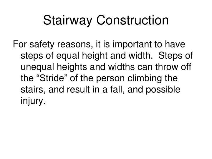 Stairway construction1