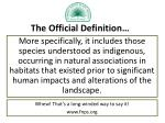 the official definition