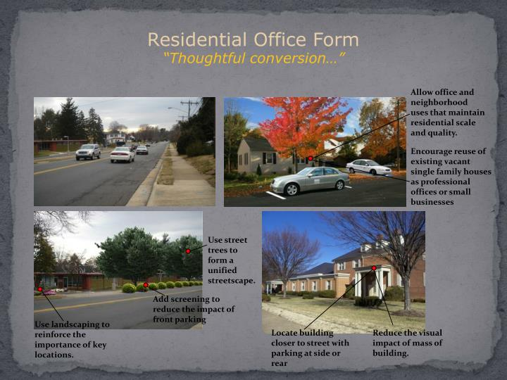 Residential Office Form