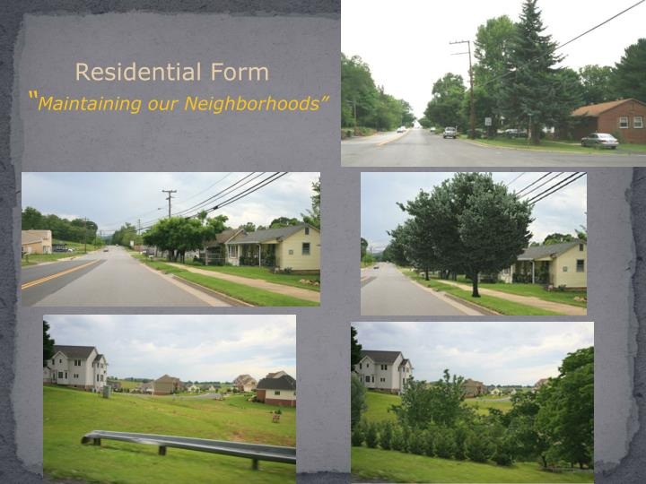 Residential Form