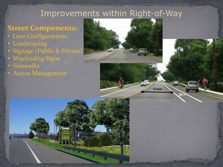 Improvements within Right-of-Way