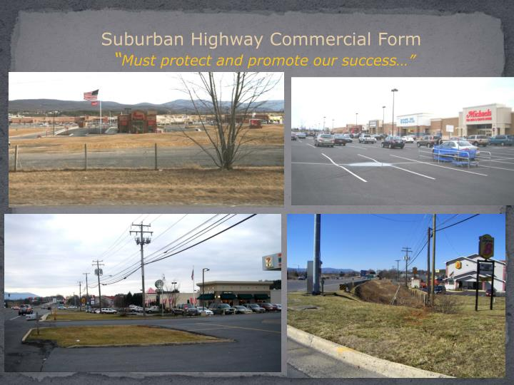 Suburban Highway Commercial Form