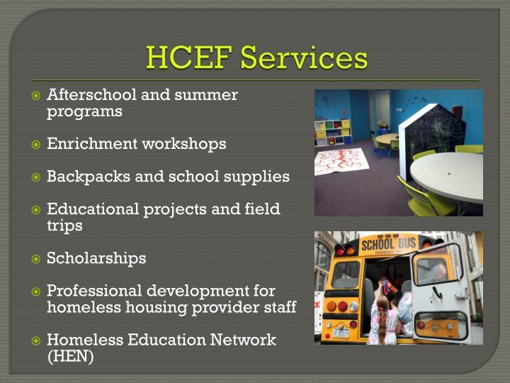 HCEF Services