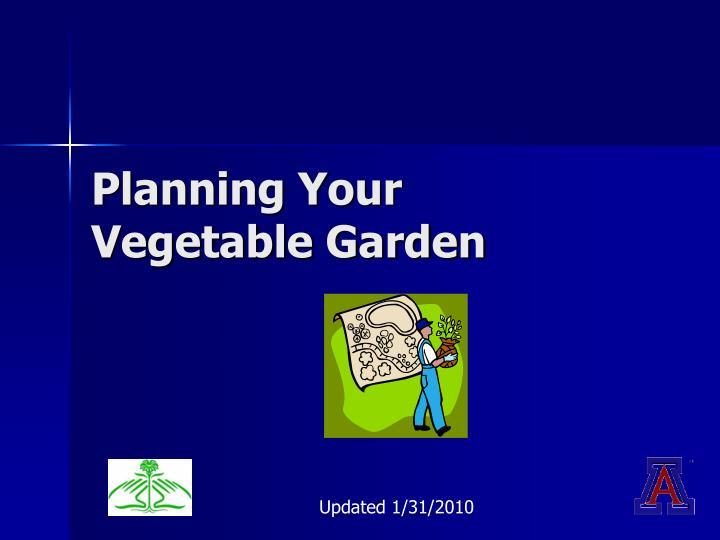 planning your vegetable garden n.