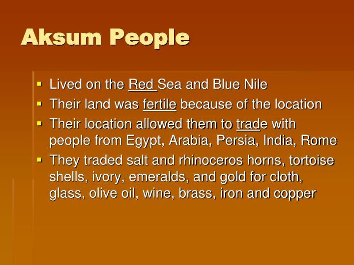 Aksum People
