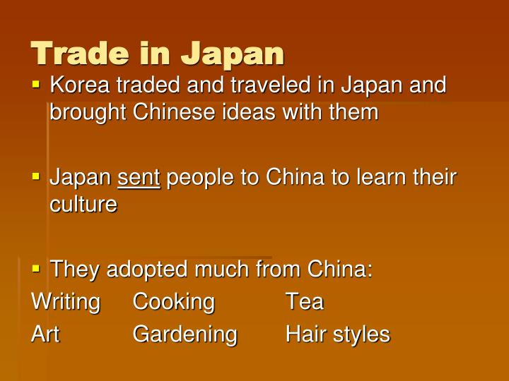 Trade in Japan