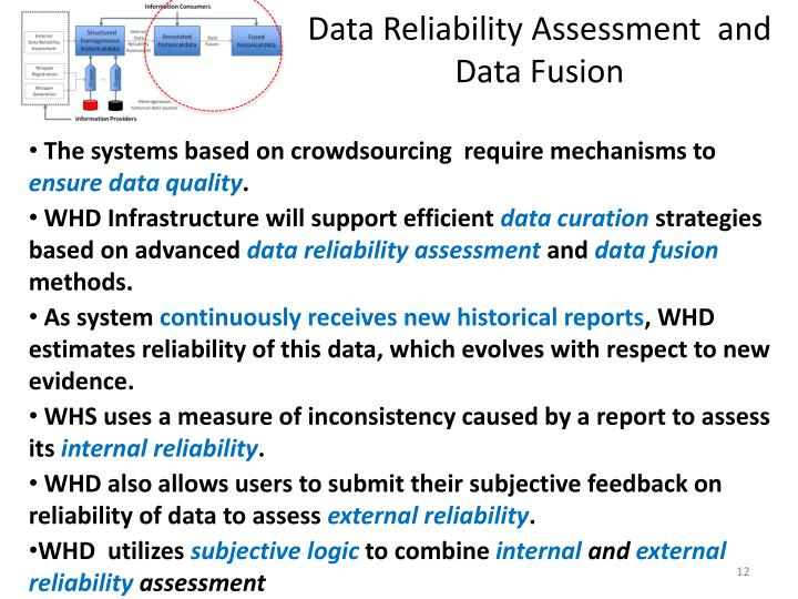 Data Reliability Assessment  and Data Fusion
