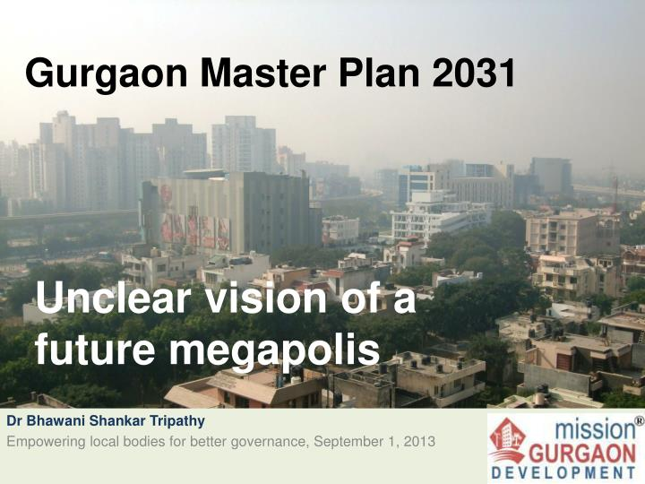 gurgaon master plan 2031 n.