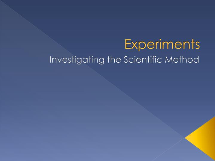 scientific method scenario The scientific method is a systematic way of learning about the world around us and answering questions the key difference between the scientific method and other ways of acquiring knowledge are forming a hypothesis and then testing it with an experiment.
