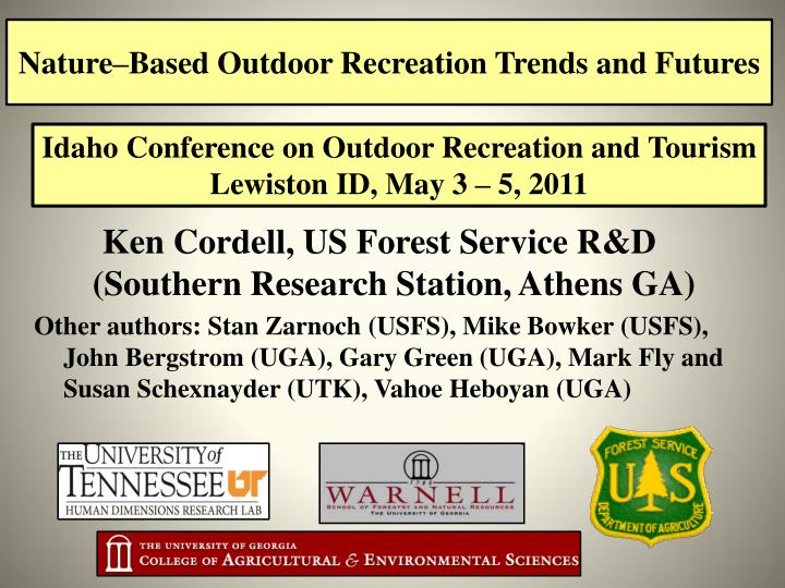 nature based outdoor recreation trends and futures n.