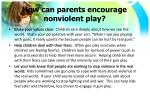 how can parents encourage nonviolent play3