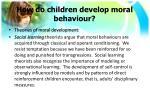 how do children develop moral behaviour