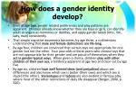 how does a gender identity develop