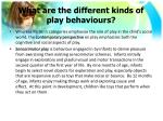 what are the different kinds of play behaviours3