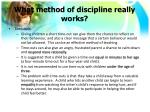 what method of discipline really works1