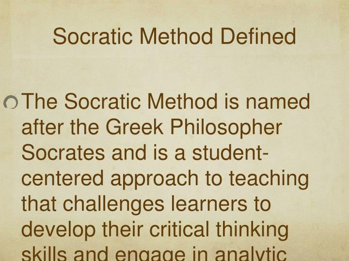 Socratic Method Defined