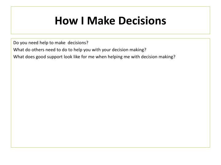 How I Make