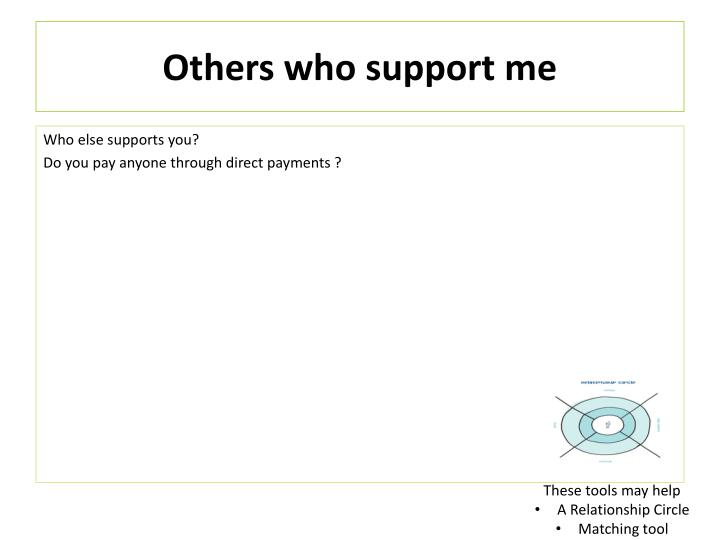 Others who support me