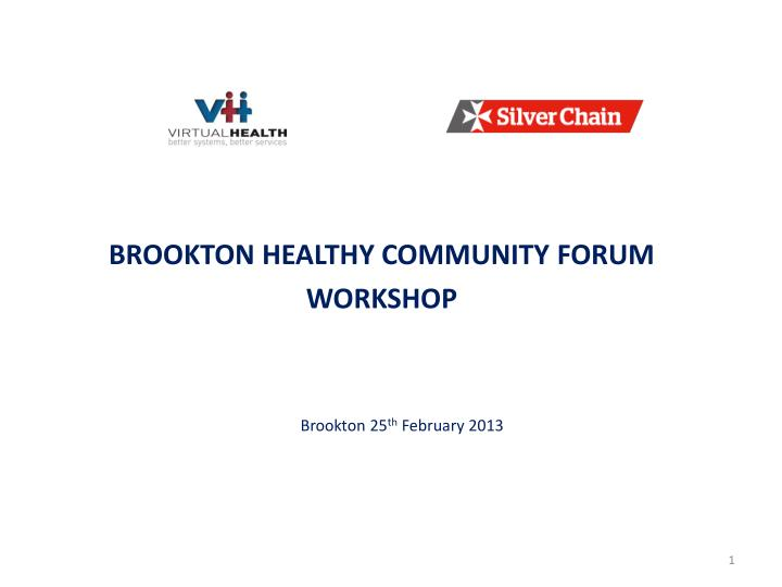 brookton healthy community forum workshop n.