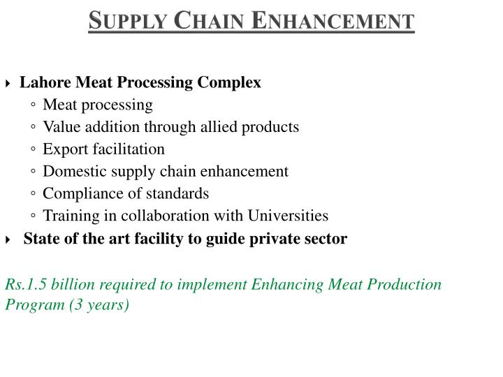 Supply Chain Enhancement