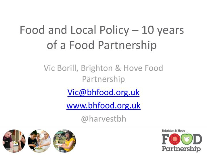food and local policy 10 years of a food partnership n.