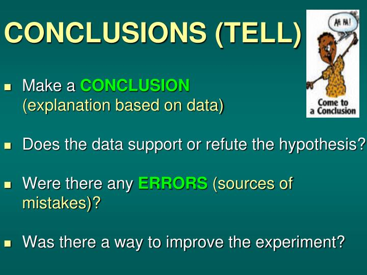 CONCLUSIONS (TELL)