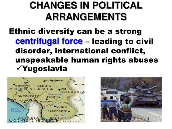 CHANGES IN POLITICAL ARRANGEMENTS