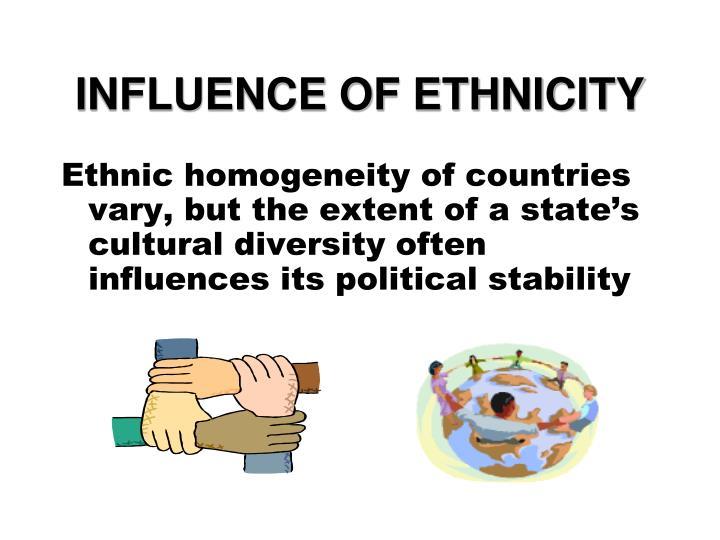 INFLUENCE OF ETHNICITY